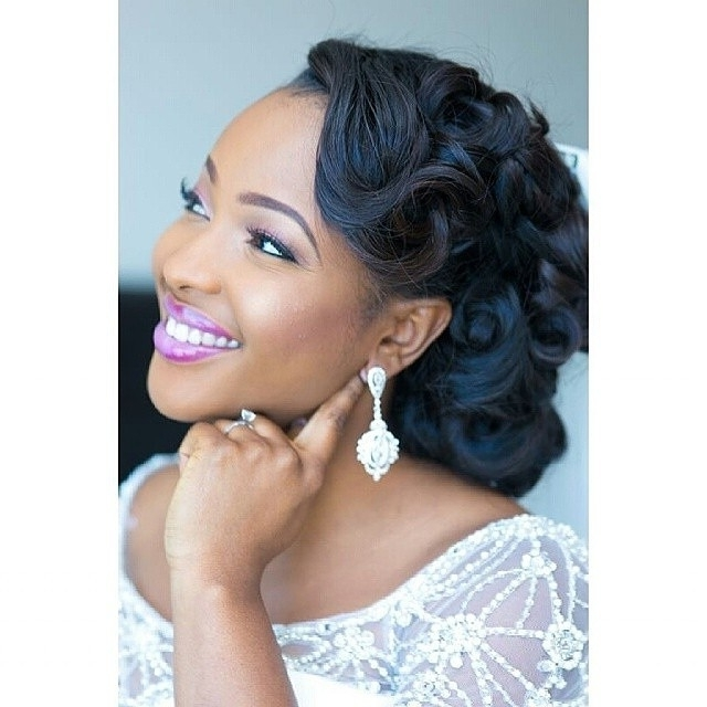 Bridal Hairstyles For Black Women Weave Black Women Wedding With Wedding Hairstyles With Weave (View 13 of 15)