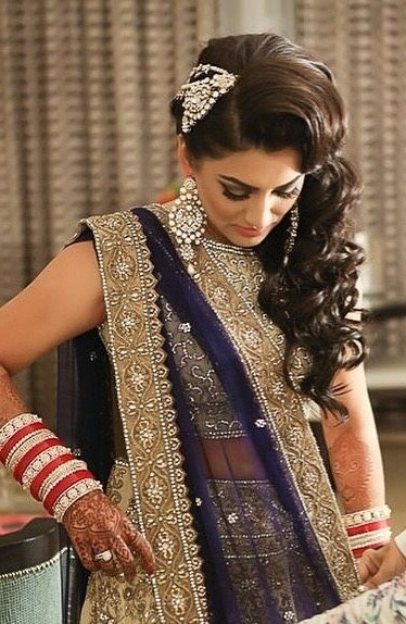 Bridal Hairstyles For Indian Wedding – Dulhan Hairstyles Throughout Indian Wedding Reception Hairstyles (View 10 of 15)