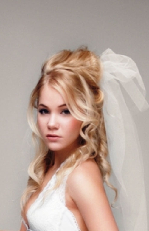 Bridal Hairstyles For Long Hair Half Up With Veil Images – New Throughout Bride Hairstyles For Long Hair With Veil (View 7 of 15)
