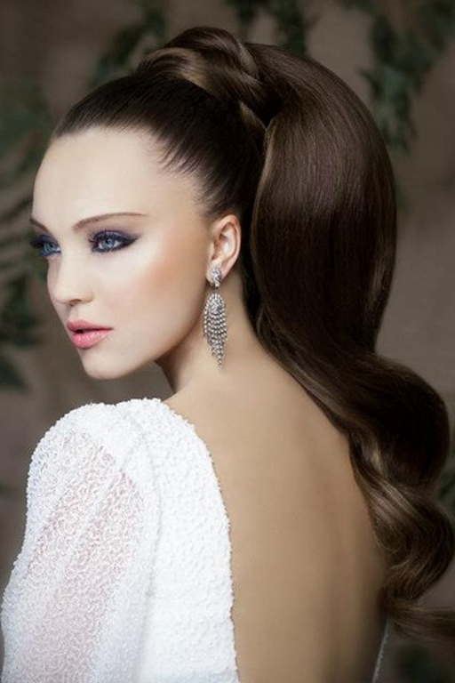 Bridal Hairstyles For Long Hair | Ideal Weddings With Wedding Hairstyles For Long Ponytail Hair (View 7 of 15)
