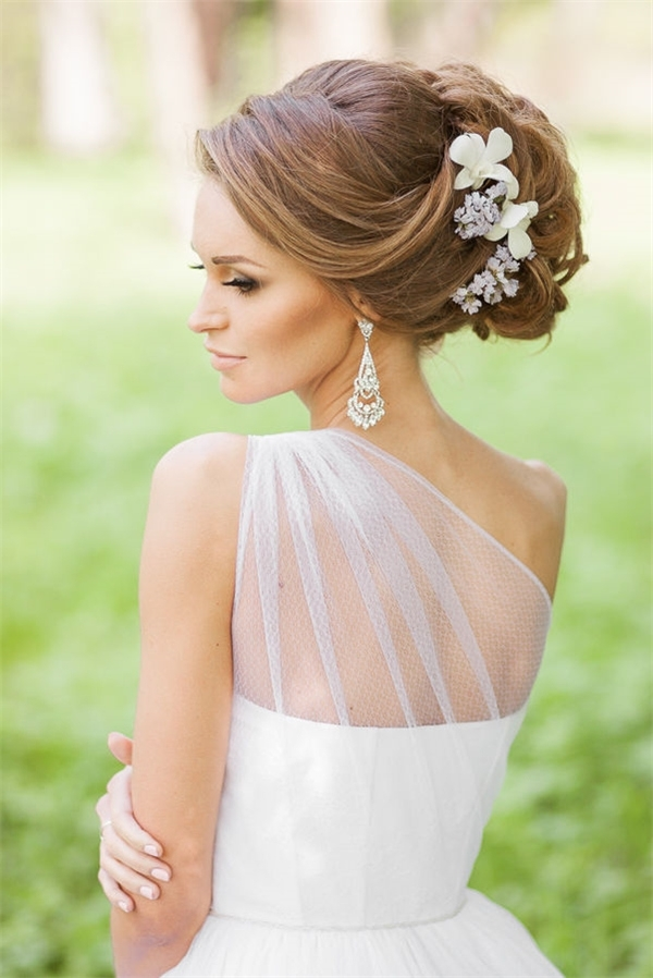 Bridal Hairstyles For Long Hair With Flowers | Deer Pearl Flowers Intended For Modern Wedding Hairstyles For Long Hair (View 5 of 15)