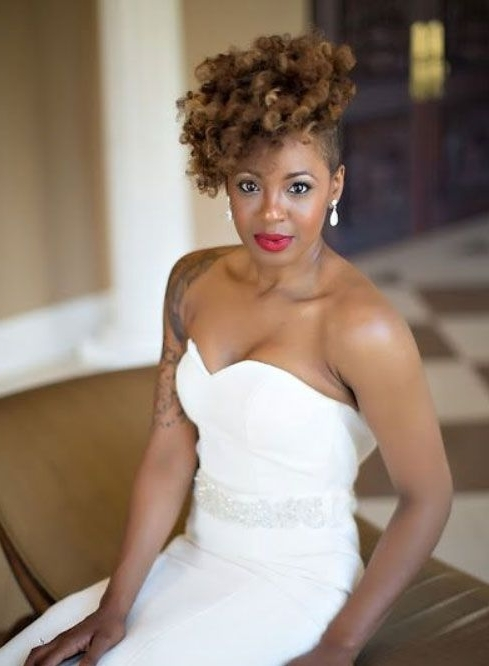 Bridal Hairstyles For Short Afro Hair 8 | Wedding Day :) | Pinterest Regarding Wedding Hairstyles For Short Afro Hair (View 12 of 15)