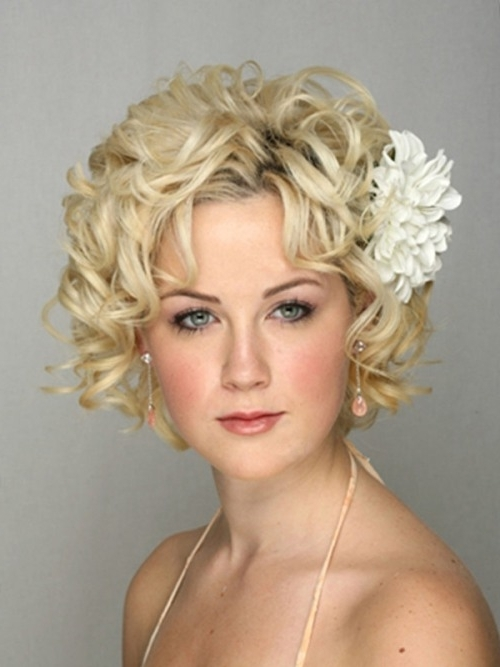 Bridal Hairstyles For Short Hair Picture – Di Candia Fashion With Regard To Wedding Hairstyles For Bridesmaids With Short Hair (View 4 of 15)