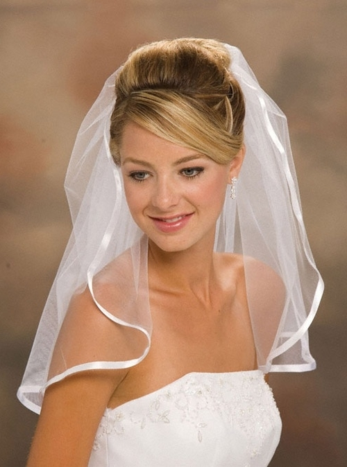 Bridal Hairstyles For Short Hair With Veil With Regard To Wedding Hairstyles For Short Hair With Veil (View 7 of 15)
