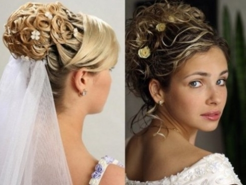 Bridal Hairstyles Updos With Veil – Di Candia Fashion Regarding Updos Wedding Hairstyles With Veil (View 7 of 15)