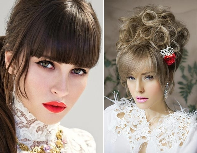 Bridal Hairstyles With Bangs | Fashionisers Throughout Wedding Hairstyles With Bangs (View 13 of 15)
