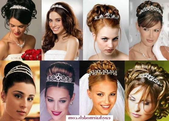 Bridal Hairstyles With Tiara | Hair Styles & Haircuts & Hair Color Inside Wedding Hairstyles For Long Hair And Oval Face (View 7 of 15)