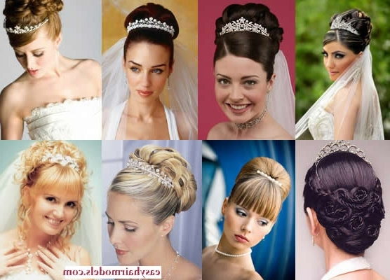 Bridal Hairstyles With Tiara | Hair Styles & Haircuts & Hair Color Throughout Wedding Hairstyles For Oval Face (View 9 of 15)