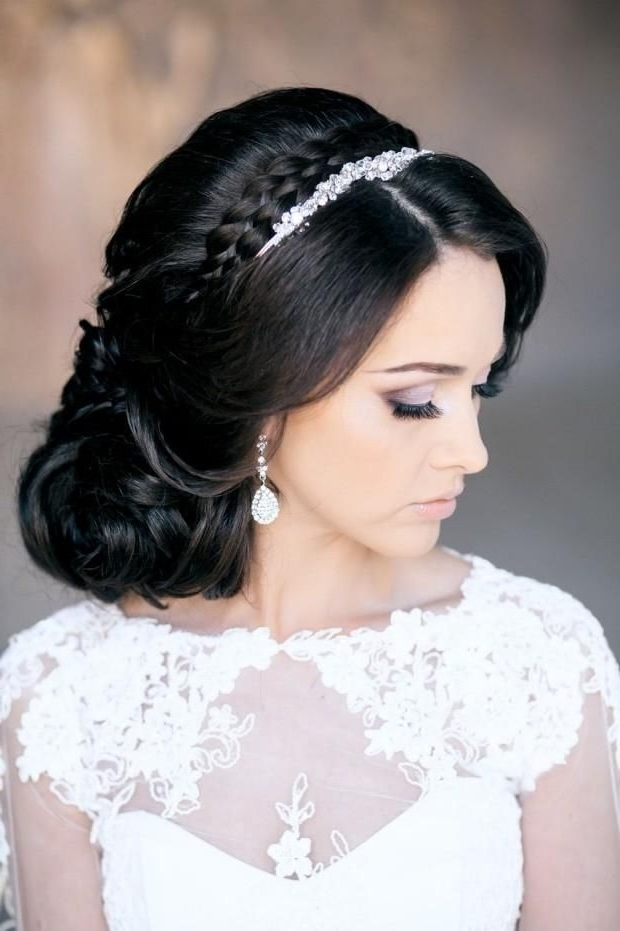 Bridal Hairstyles With Tiara Medium Length Hair – Google Search Within Wedding Hairstyles For Shoulder Length Hair With Tiara (View 2 of 15)