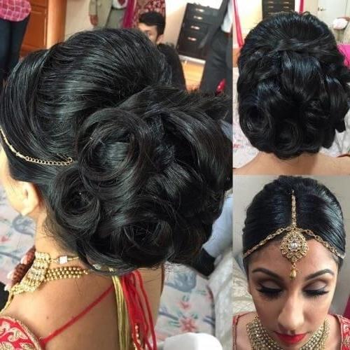 Bridal Juda Hairstyle With Maang Tikka | Hair Buns | Pinterest | Bun Within Wedding Juda Hairstyles (View 2 of 15)