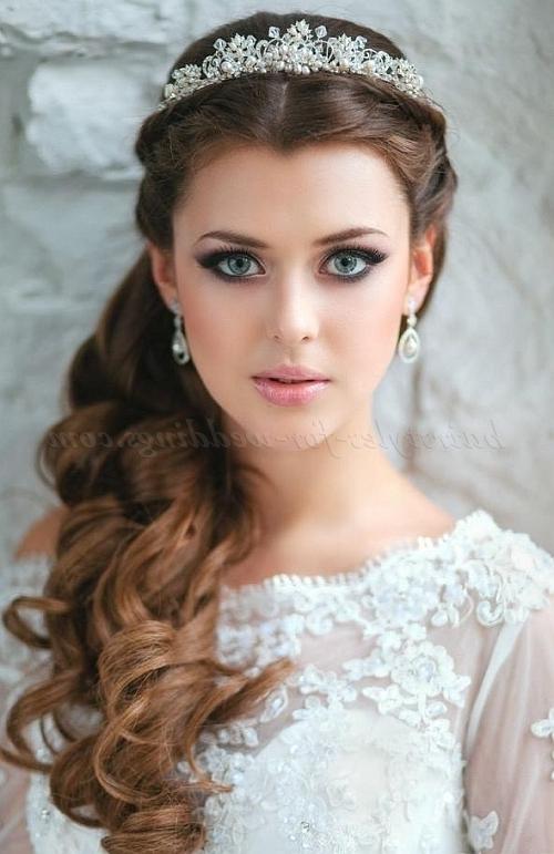 Bridal Tiara – Wedding Hairstyle With Tiara | Hairstyles For With Wedding Updos For Long Hair With Tiara (View 12 of 15)