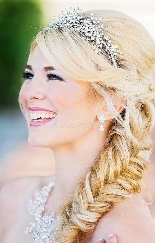 Bridal Tiara – Wedding Hairstyle With Tiara | Hairstyles For Within Wedding Hairstyles With Tiara (View 5 of 15)