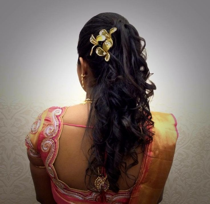 Bride Hairstyles For Indian Wedding – Hairstyle For Women & Man Within Indian Wedding Reception Hairstyles For Long Hair (View 6 of 15)