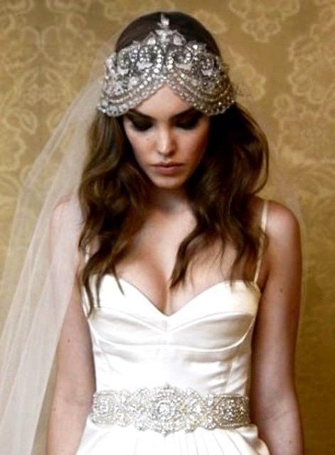 Bride's Casual Down Bridal Hair Toni Kami Wedding Hairstyles ? ? With Wedding Hairstyles With Headpiece (View 15 of 15)