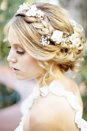 Brides Of Adelaide Magazine – Secret Garden Wedding – Hair Regarding Summer Wedding Hairstyles For Bridesmaids (View 4 of 15)