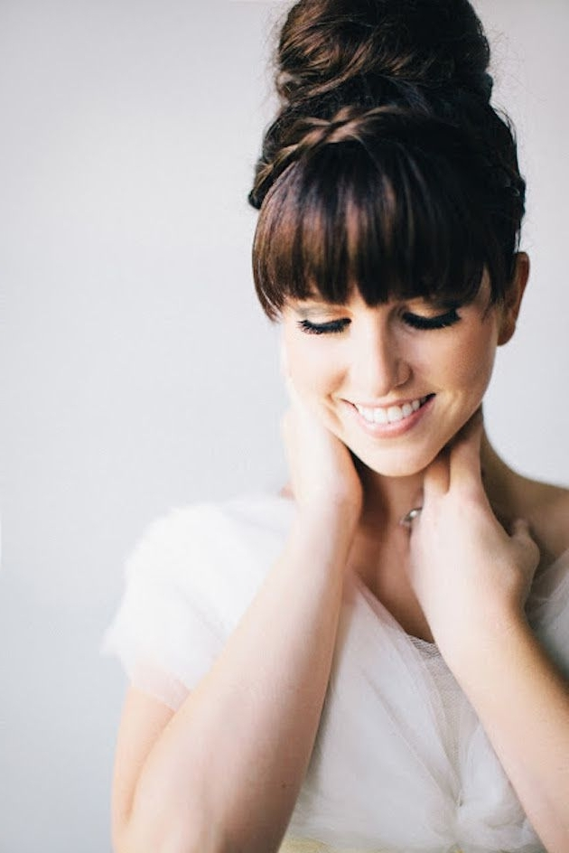 Brides With Bangs; Wedding Hair Inspiration | Wedding Hair Throughout Wedding Hairstyles With Bangs (View 10 of 15)