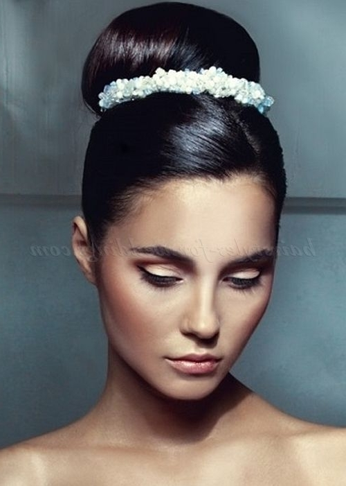 Brides With High Updos | High Bun Wedding Hairstyle | Hair With Regard To High Bun Wedding Hairstyles (View 8 of 15)