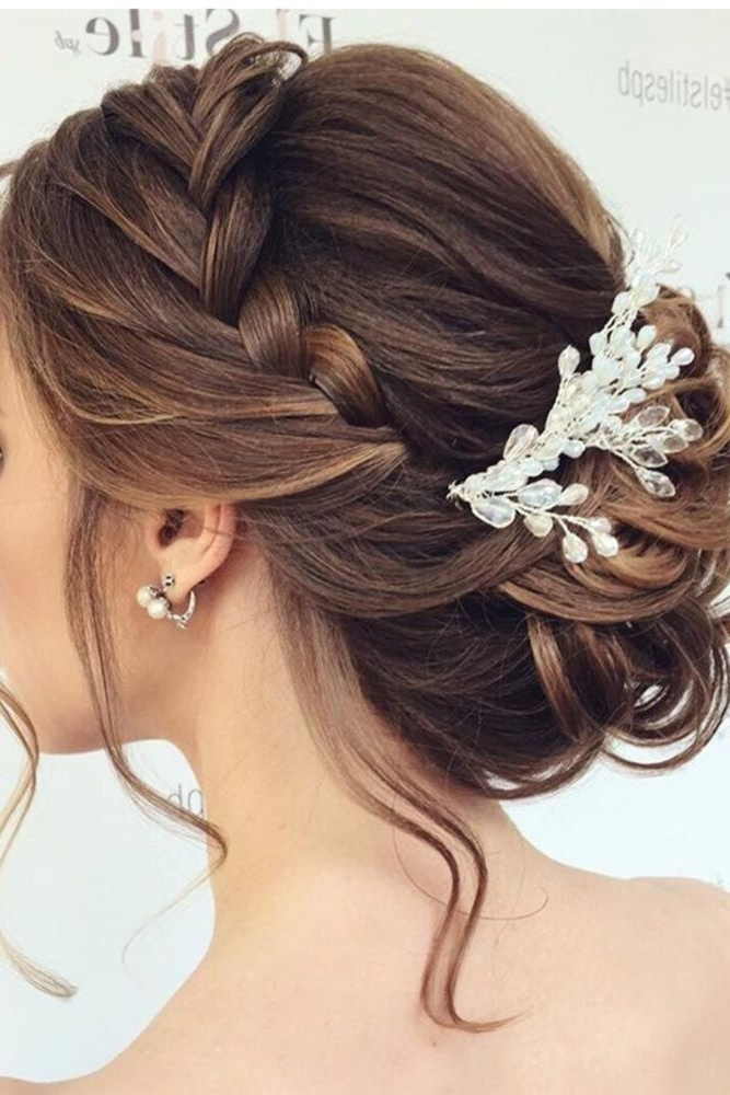 Bridesmaid Hairstyle – Sweet Wedding Pertaining To Wedding Updos For Long Hair Bridesmaids (View 9 of 15)