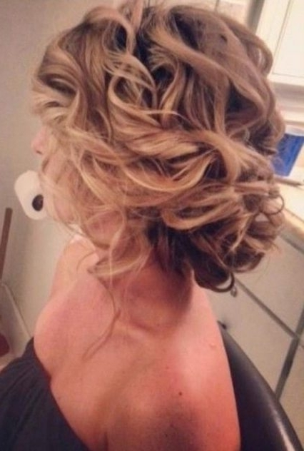 Bridesmaid Hairstyles Updo Messy Updo Hairstyles For Wedding Throughout Wedding Hairstyles For Medium Hair For Bridesmaids (View 11 of 15)