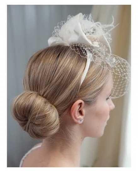 Bridesmaids Love The 'messy Side Bun' Gallery Of Wedding Hair Inside Throughout Updos Wedding Hairstyles With Fascinators (View 6 of 15)