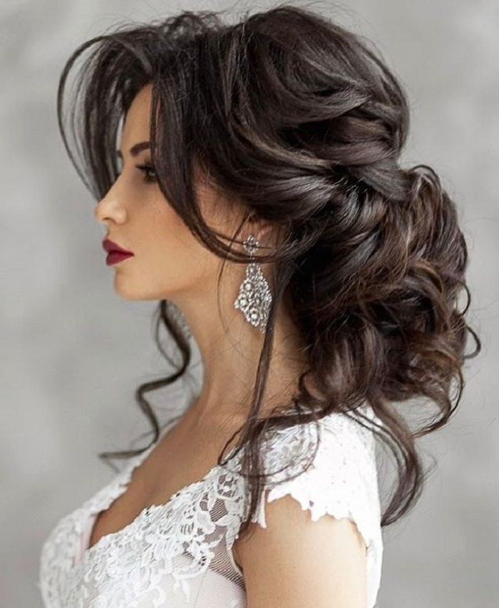 Brilliant Hairstyles For Long Hair Bridal Regarding Warm – Www In Wedding Hairstyles For Long Hair And Bangs (View 7 of 15)