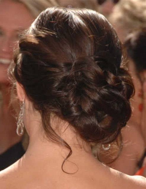 Brown Curly Hairstyle Ideas For Your Wedding – Hair World Magazine Inside Curly Side Bun Wedding Hairstyles (View 5 of 15)