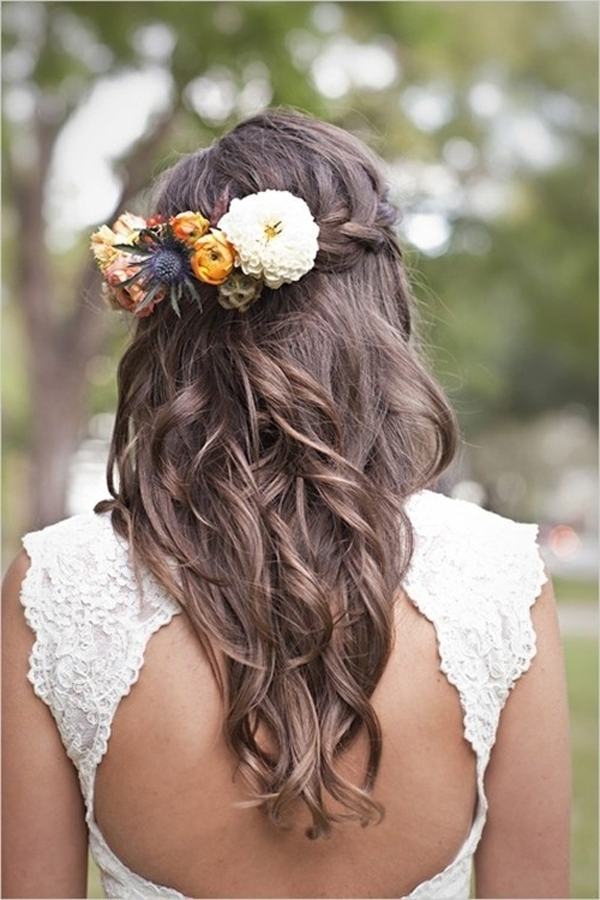Brown Curly Hairstyle Ideas For Your Wedding – Hair World Magazine With Brunette Wedding Hairstyles (View 7 of 15)