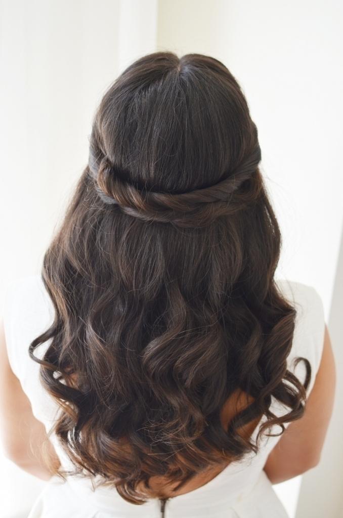 Brunette Wedding Hair – Popular Long Hairstyle Idea Regarding Brunette Wedding Hairstyles (View 13 of 15)