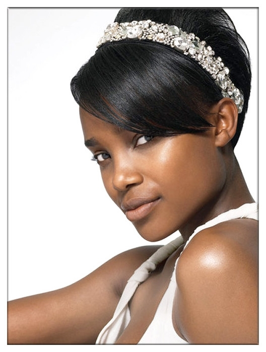 Charming Bridal Hairstyle For Black Womenevawigs | Chic With Bridal Hairstyles For Short African Hair (View 2 of 15)