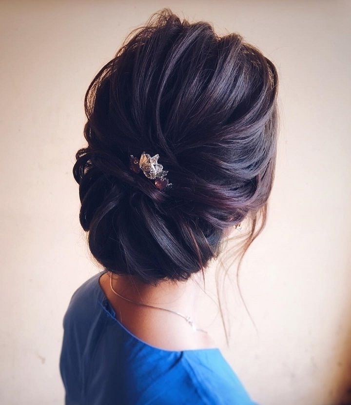 Chic Wedding Updo For Straight Hair To Inspire You | Wedding Up Do Pertaining To Easy Wedding Hairstyles For Long Straight Hair (View 7 of 15)