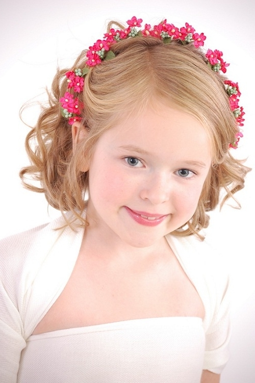 Childrens Short Curly Hairstyles Ideas Images | Totally Awesome Regarding Childrens Wedding Hairstyles For Short Hair (View 3 of 15)