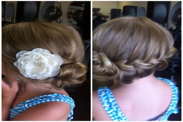 Childrens Wedding Hairstyles | Fade Haircut | Little Girl Wedding Pertaining To Childrens Wedding Hairstyles For Short Hair (View 13 of 15)
