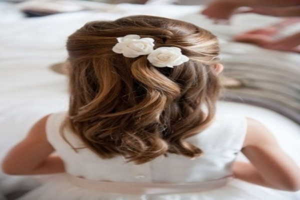 Childrens Wedding Hairstyles | Fade Haircut | Little Girl Wedding Within Childrens Wedding Hairstyles For Short Hair (View 5 of 15)