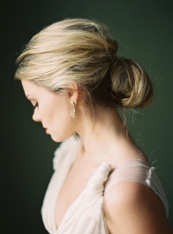 Classic Low Bun Wedding Hairstyle – Tania Maras | Bespoke Within Wedding Hairstyles For Long Low Bun Hair (View 6 of 15)
