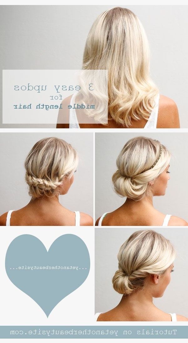 Click On The Picture For Tutorials! Yet Another Beauty Site With Diy Wedding Hairstyles For Shoulder Length Hair (View 6 of 15)