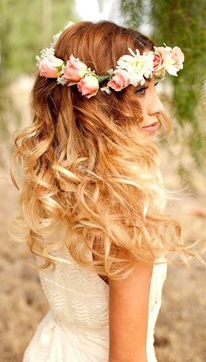 Complete Your Bridal Look With Stylish Wedding Hairstyles | Long For Beach Wedding Hairstyles For Long Curly Hair (View 11 of 15)
