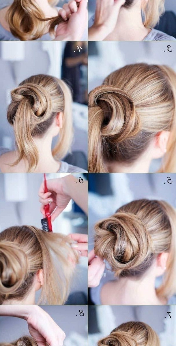 Crochet Braid Updo Hairstyle For Medium Long Hair Impressive Throughout Simple Wedding Hairstyles For Long Hair Thick (View 9 of 15)