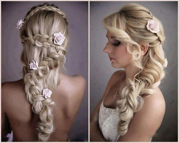 Crown Braids Wedding Hairstyle For Long Hair – Nail And Hair Care Intended For Wedding Hairstyles For Long Hair With Crown (View 6 of 15)