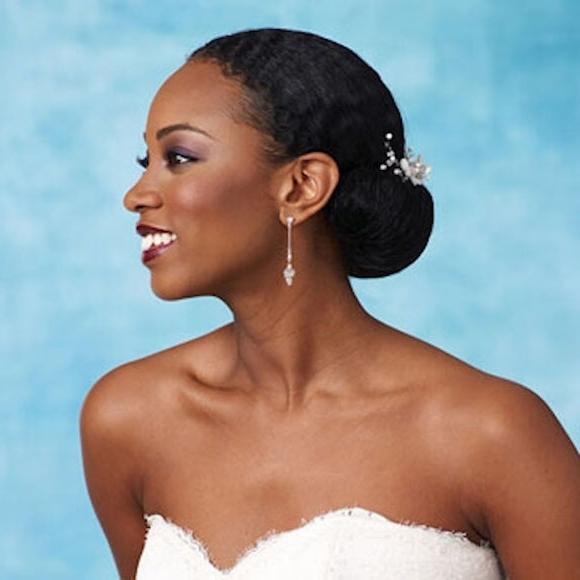 Curls Understoos Sleek Pull Back Summer Wedding Hairstyles For Throughout Wedding Hairstyles For Natural Hair (View 7 of 15)