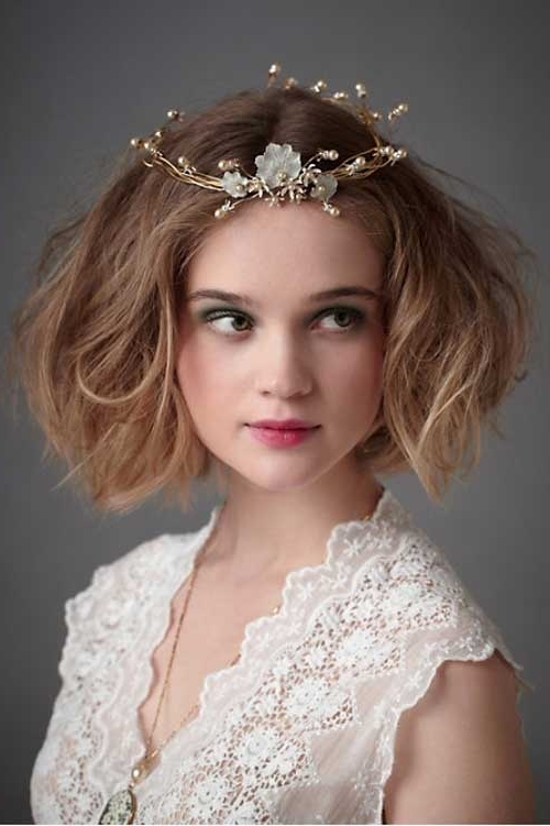 Curly Bob Wedding Hairstyles | Short Hairstyles 2017 – 2018 | Most Intended For Bob Wedding Hairstyles (View 10 of 15)