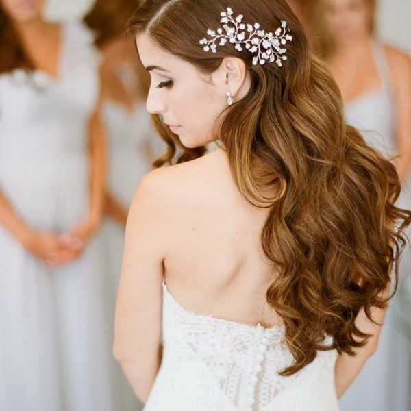 Curly Down Wedding Hairstyles Down Curly Wedding Hairstyle For Long Intended For Down Curly Wedding Hairstyles (View 8 of 15)