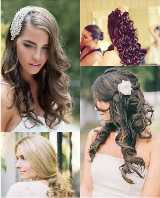 Curly Hair Extensions Can Make You Look Charming Enough In Your In Wedding Hairstyles With Extensions (View 13 of 15)