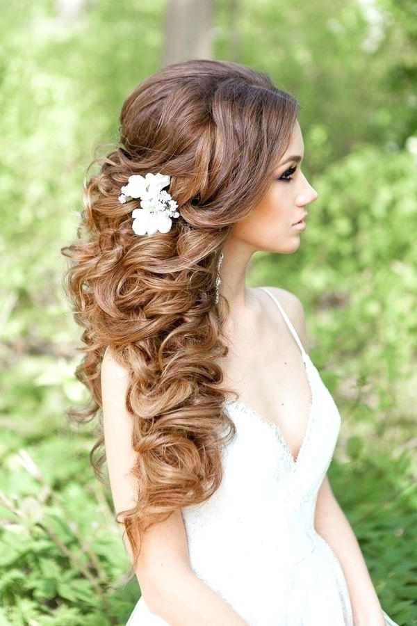 Curly Hair Wedding Modern Wedding Hairstyles For Long Hair Beautiful In Wedding Hairstyles For Long Down Curls Hair (View 7 of 15)