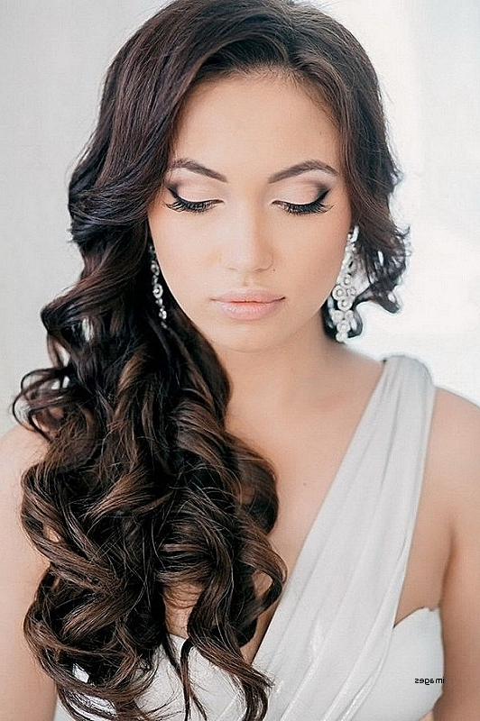 Curly Hairstyles For Wedding Guests Awesome Curly Hairstyles For With Regard To Wedding Guest Hairstyles For Long Curly Hair (View 6 of 15)