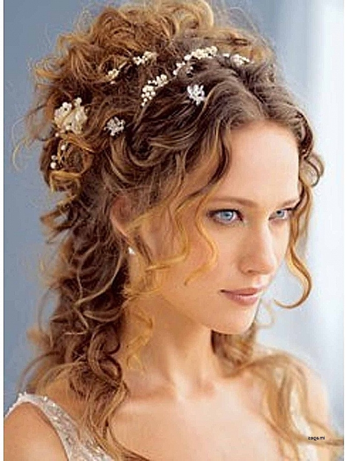 Featured Photo of Wedding Hairstyles For Medium Length Curly Hair