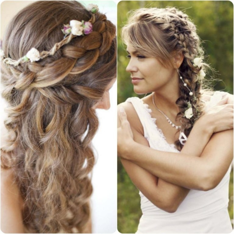 Curly Side Braid Hairstyles 20 Braided Hairstyles For Wedding In For Wedding Braids Hairstyles (View 10 of 15)
