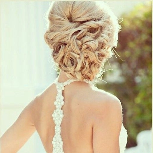 Curly Side Bun   2015 10 10: Locks & Lashes   Pinterest   Curly Side Pertaining To Curly Side Bun Wedding Hairstyles (View 7 of 15)