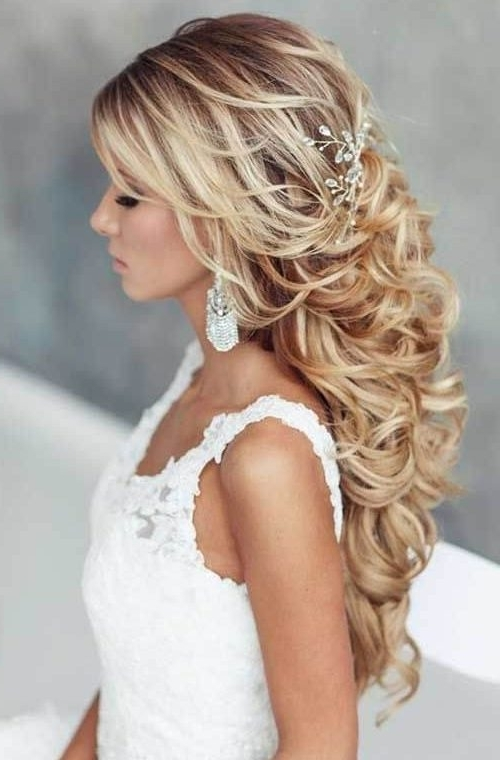Curly Wedding Hairstyles 2018 – Homecoming Hairstyle Updos Inside Wedding Hairstyles Without Curls (View 2 of 15)