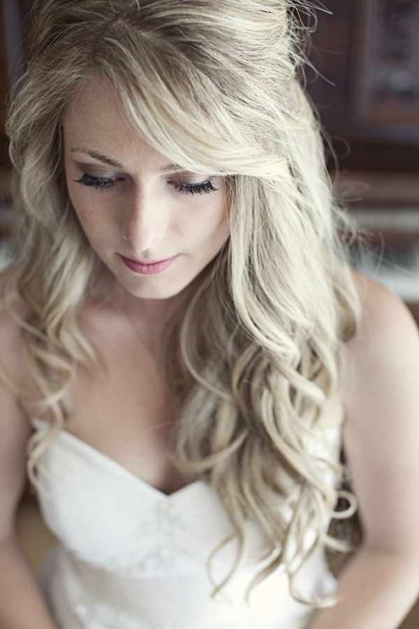 Curly Wedding Hairstyles For Medium Length Hair – Gorgeous Real Of With Wedding Hairstyles Without Curls (View 14 of 15)
