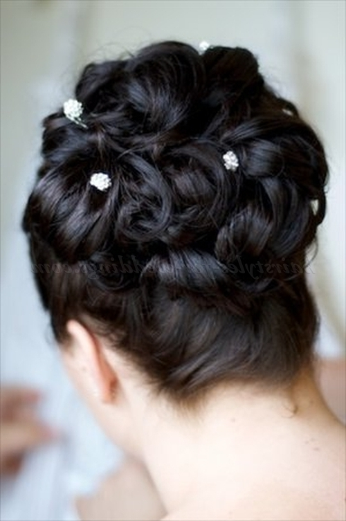 Curly Wedding Updos – Curly Bridal Hairstyle For Long Hair Throughout Wedding Updos For Long Hair Bridesmaids (View 9 of 15)